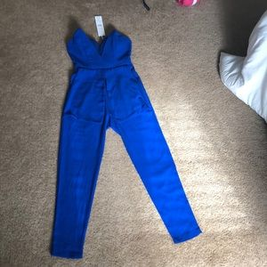 One piece royal blue romper